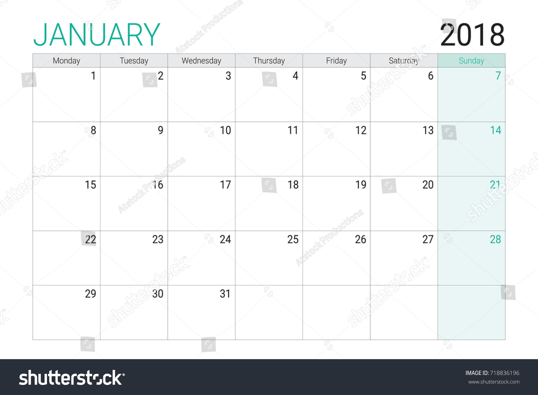 january 2018 calendar starting monday carisoprodolpharmcom