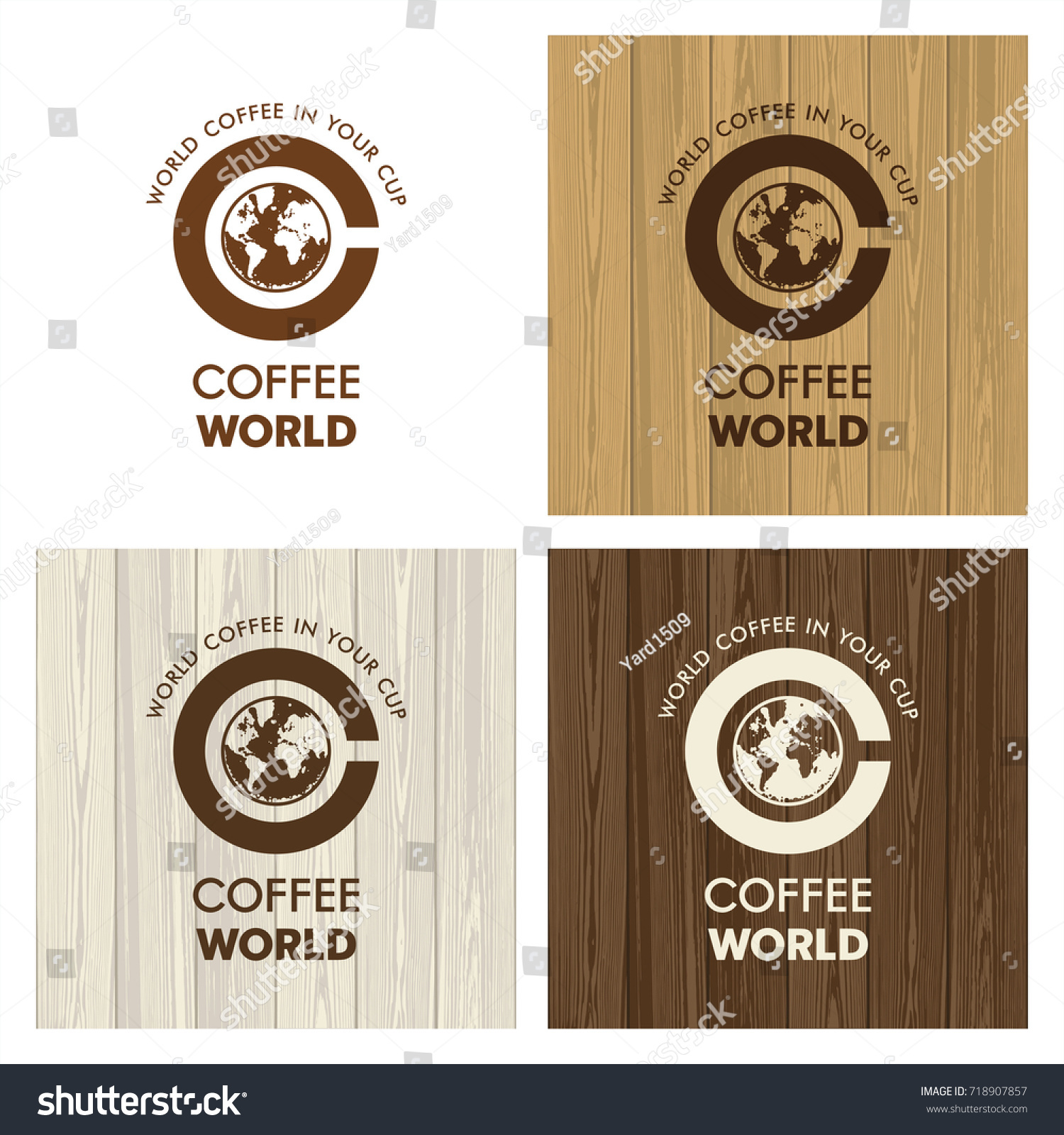 Logo coffee world coffee cup world stock photo photo vector logo coffee world coffee cup world map coffee foam corporate identity on gumiabroncs Image collections