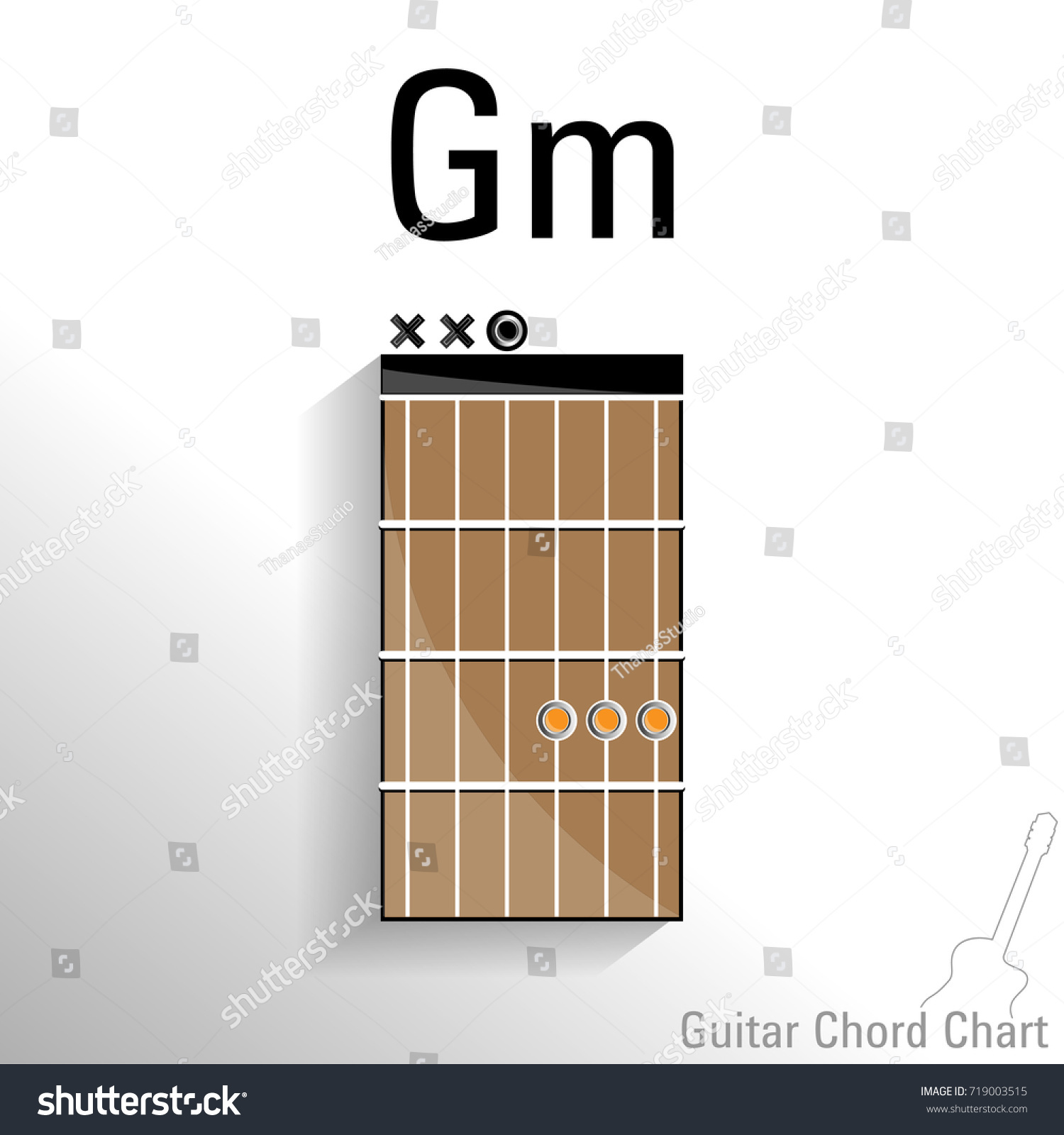 Guitar Chord Gm Chart Vector Design Stock Vector Royalty Free
