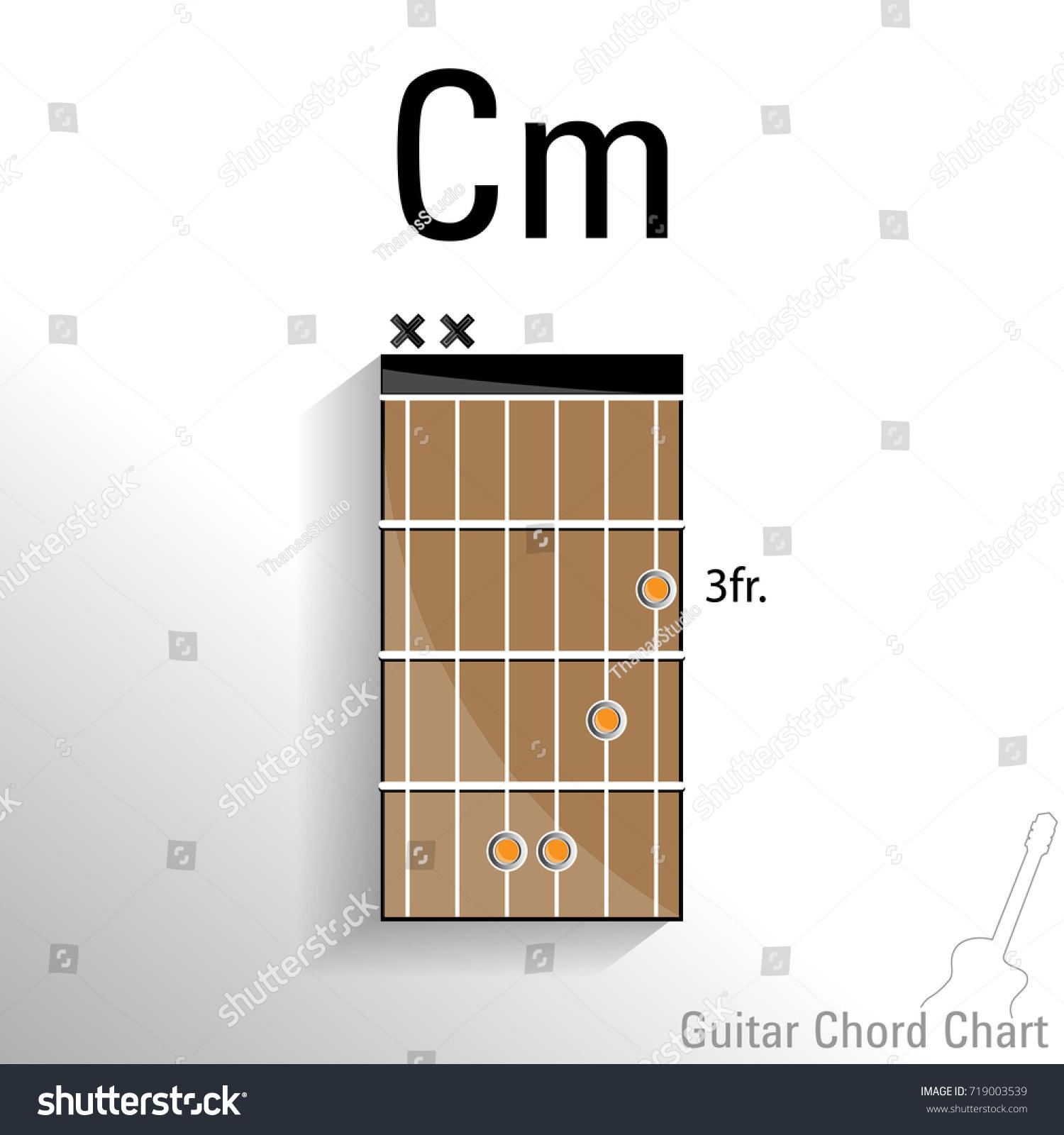 Guitar Chord Cm Chart Vector Design Stock Vector Royalty Free