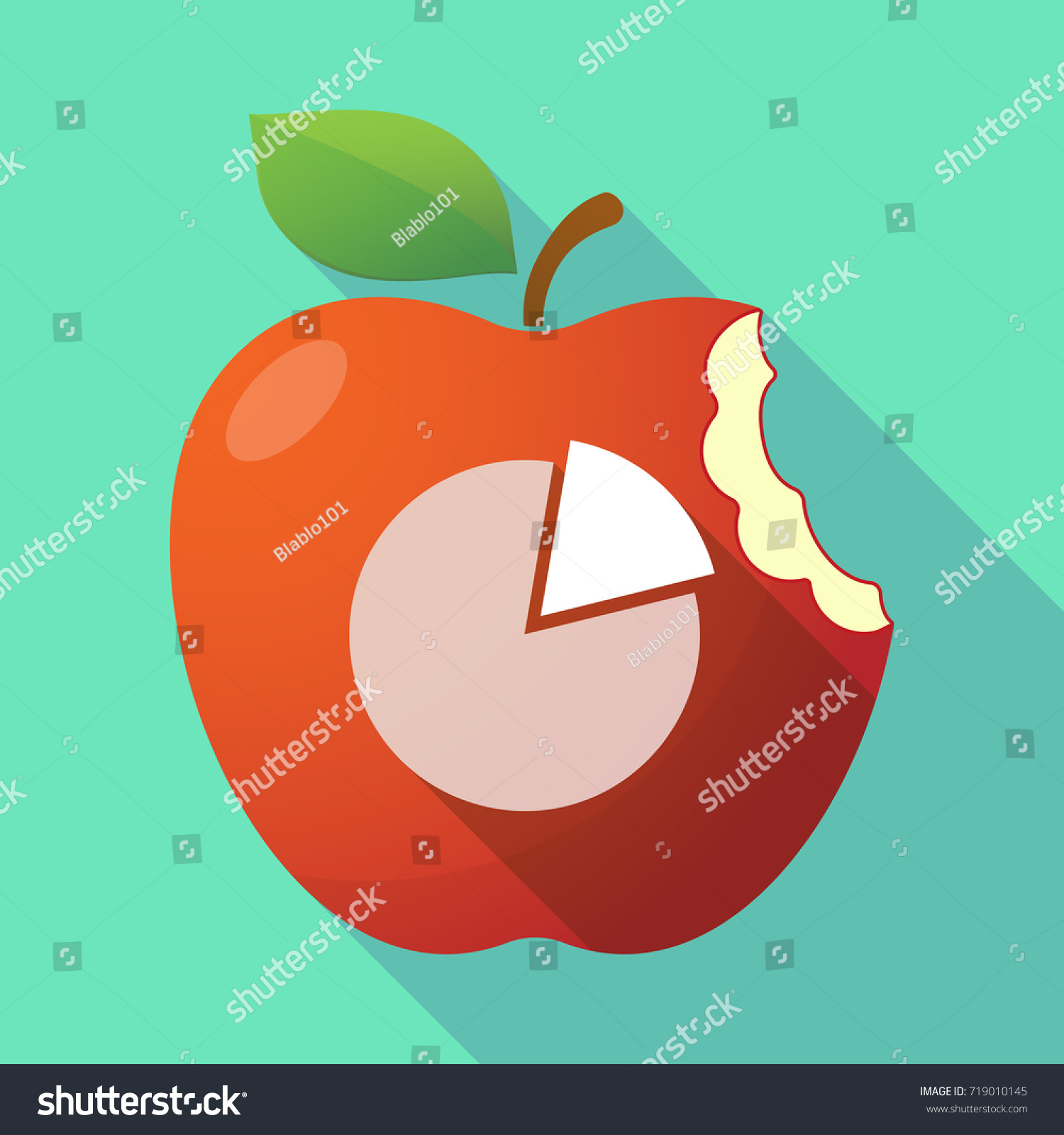 Illustration long shadow apple fruit pie stock vector 719010145 illustration of a long shadow apple fruit with a pie chart nvjuhfo Images