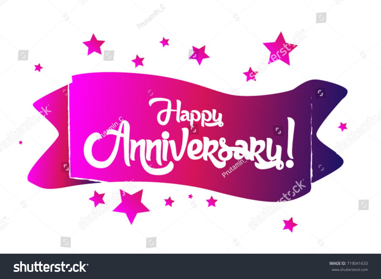 Happy Anniversary Greeting Card Stock Vector 719041633 Shutterstock