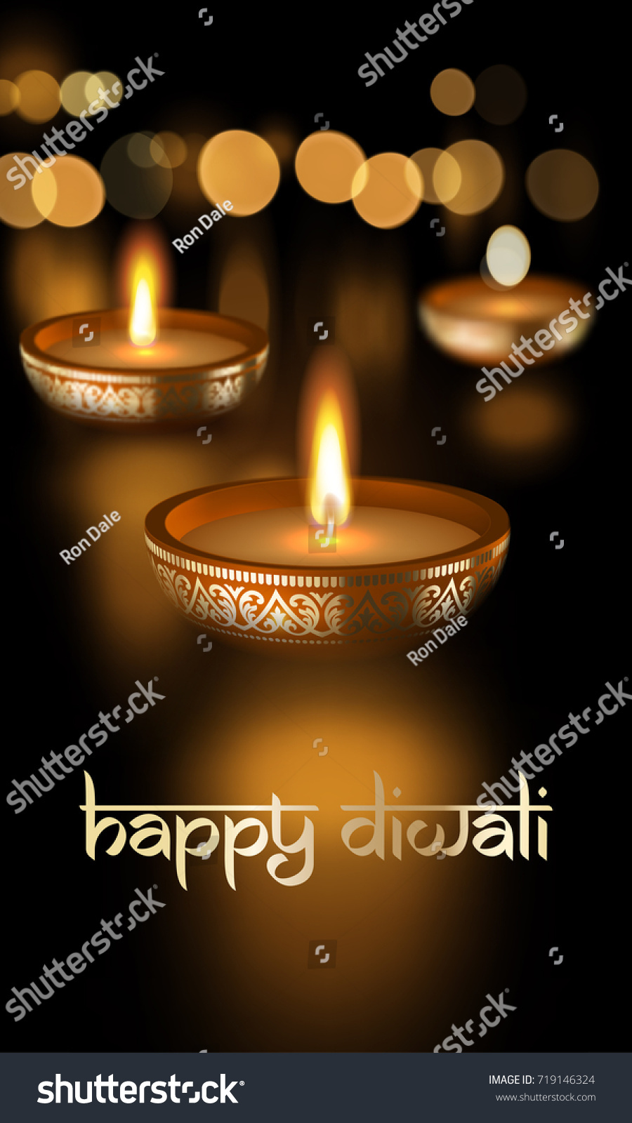 Happy diwali hindu festival lights holiday stock vector 719146324 happy diwali hindu festival of lights holiday greeting card template with indian sanskrit lettering text ornament kristyandbryce Gallery