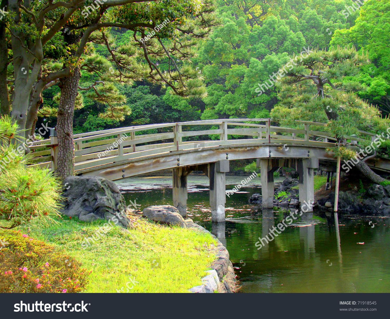 The Hamarikyu Gardens (Hama-Rikyu Onshi Teien), A Public Park In Chuo, Tokyo,...