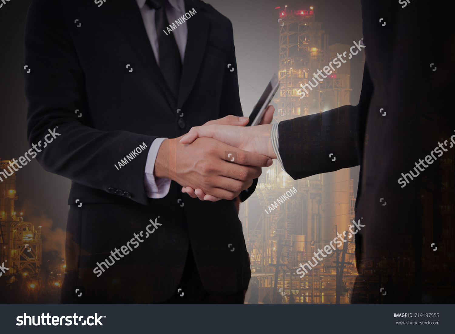 36f47d71f340f Double Exposure People Shaking Hands Stock Photo (Edit Now ...