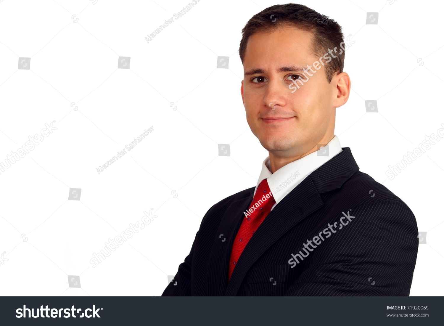 portrait of a handsome young man in a suit stock photo