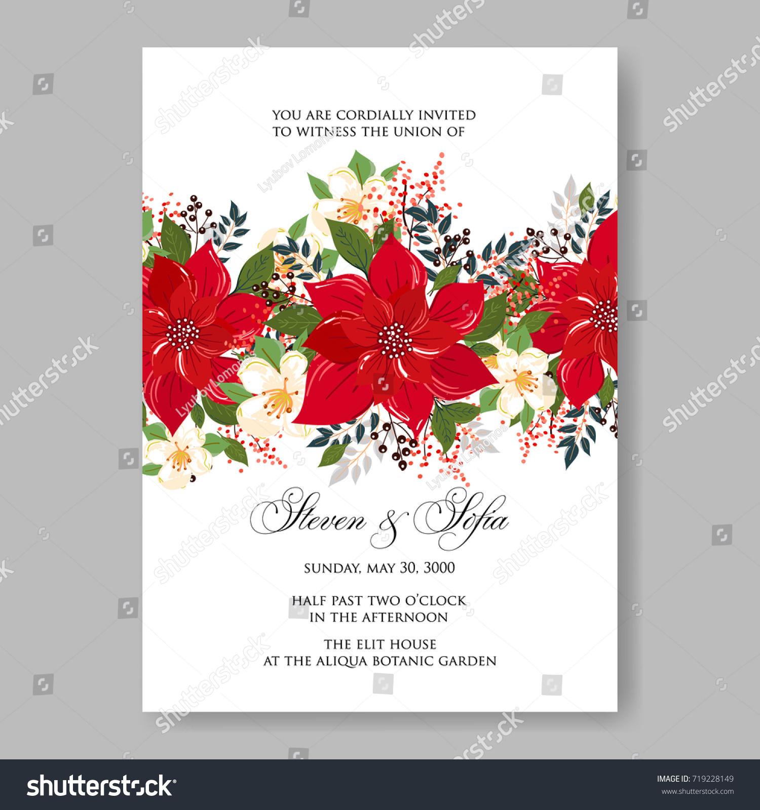Wedding Invitation Card Beautiful Floral Vector Stock Vector ...