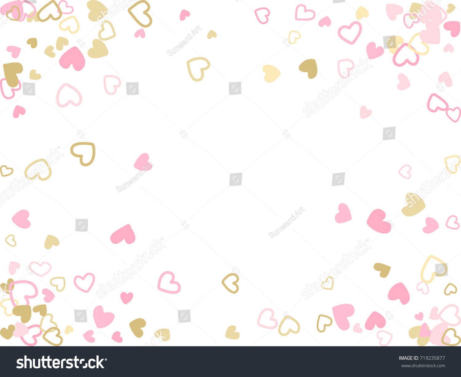 Heartbeat Pattern Heartbeat Vector Pattern Vector: Doodle Heart Border Vector Pattern Background Stock Vector