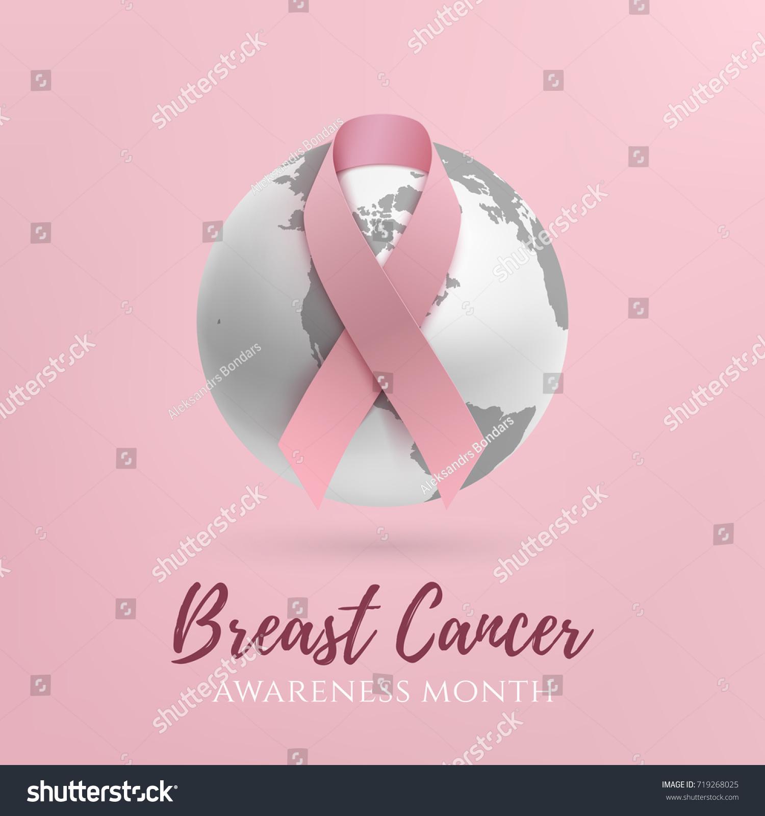 Breast Cancer Awareness Month Design Background Vector de stock ...