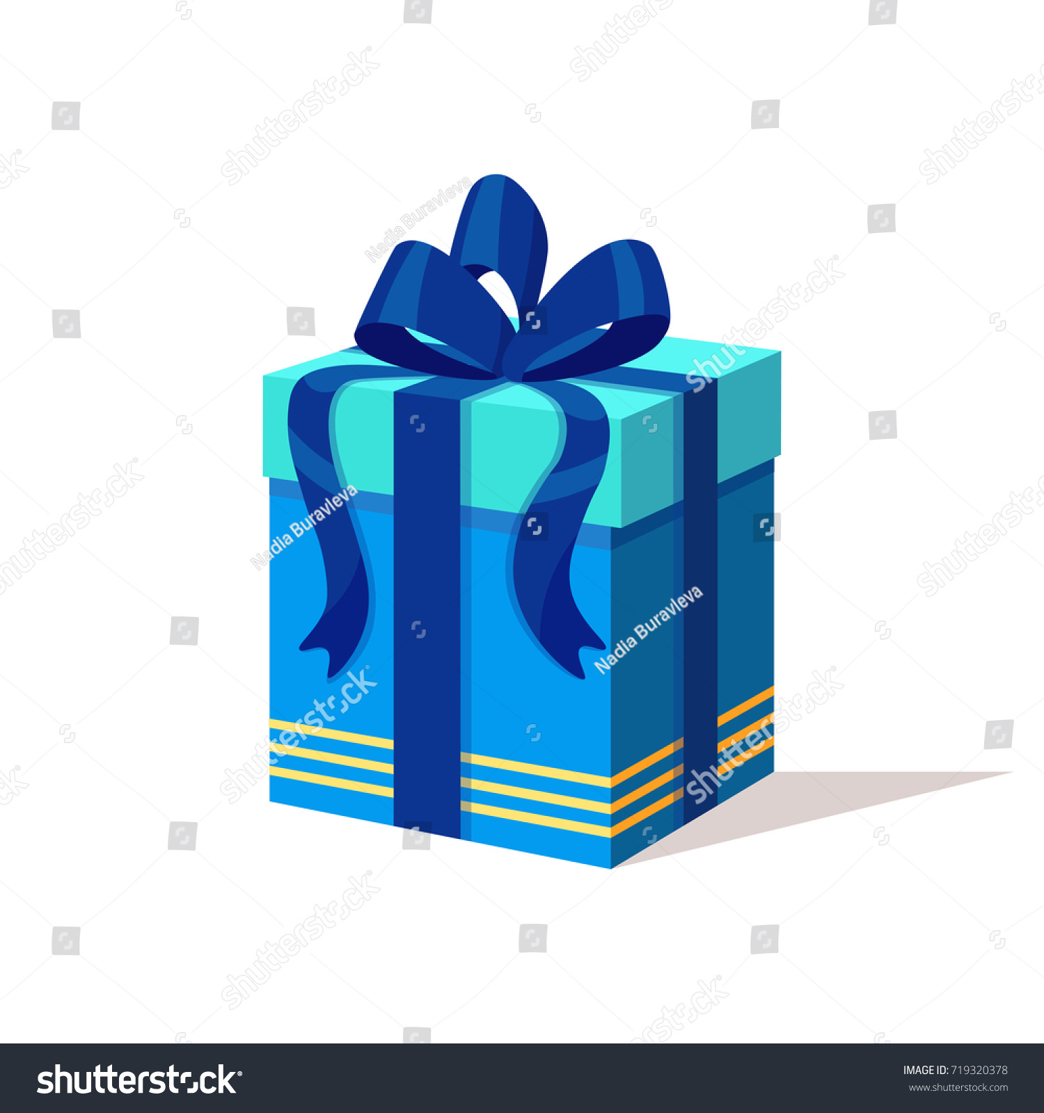 Gift box ribbon bow isolated on stock vector 719320378 shutterstock gift box with ribbon and bow isolated on white background present surprise prize negle Choice Image