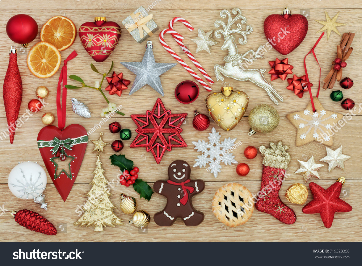 Decorations Symbols Christmas New Old Fashioned Stock Photo (Edit ...