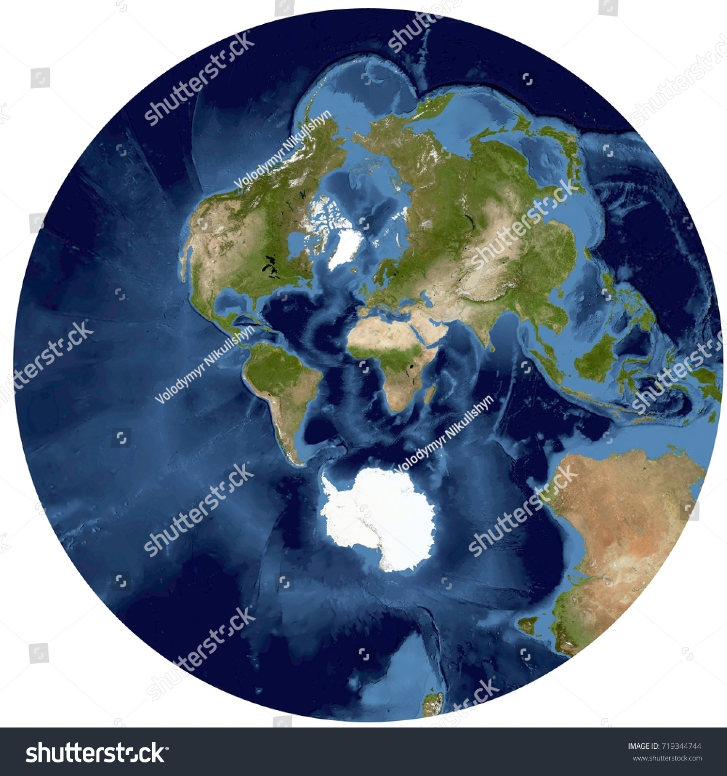 Complete earth view space high resolution stock illustration complete earth view from space high resolution world map illustration in stereographic projectiondata gumiabroncs Choice Image