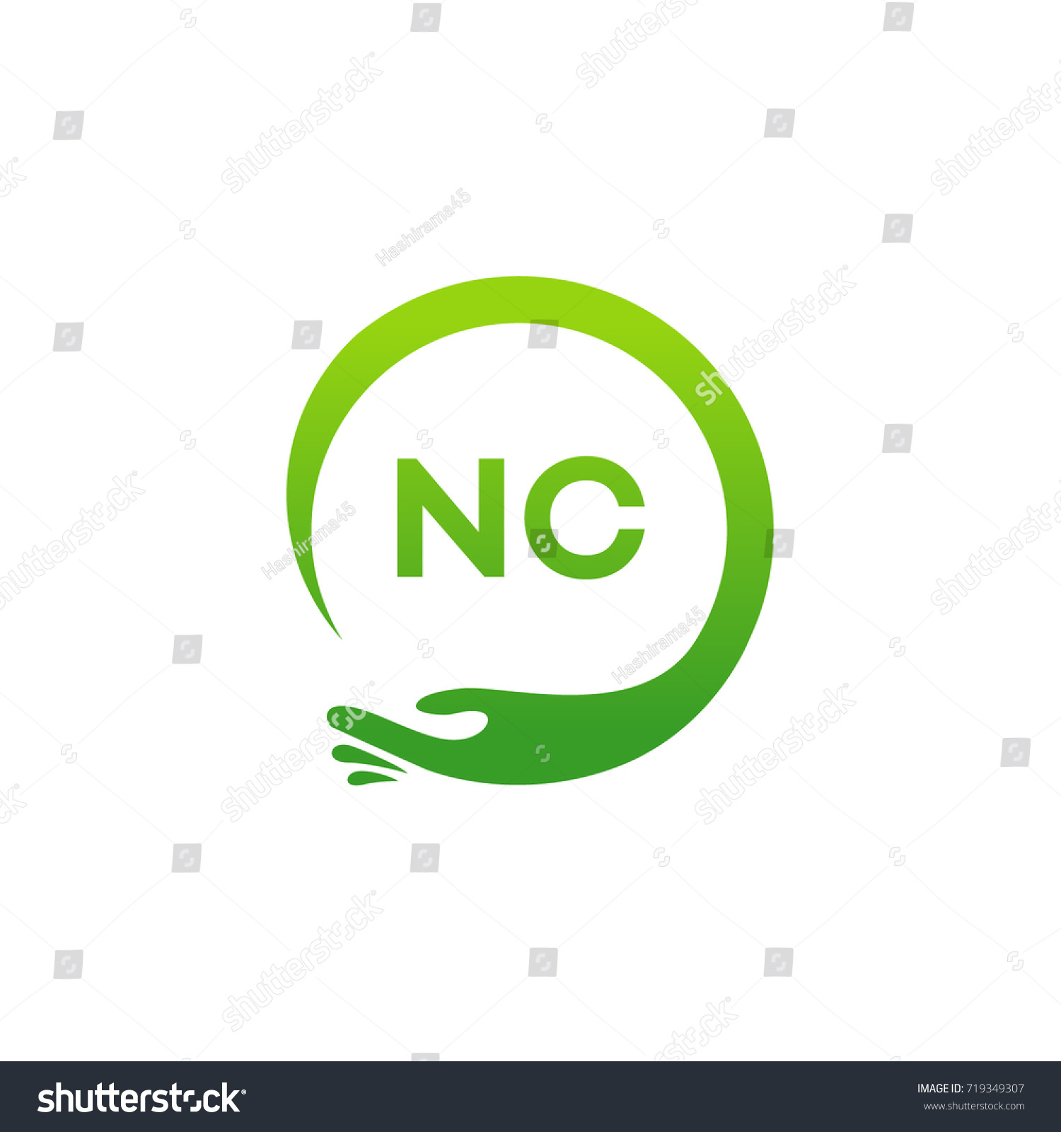 Healthcare Nc Initial Logo Designs Template Stock Vector 719349307 ...