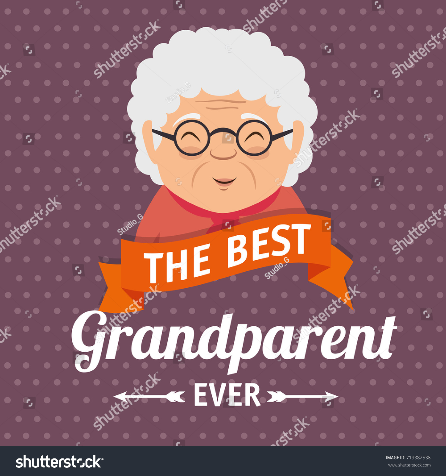 Grandparents day greeting card stock vector royalty free 719382538 grandparents day greeting card m4hsunfo