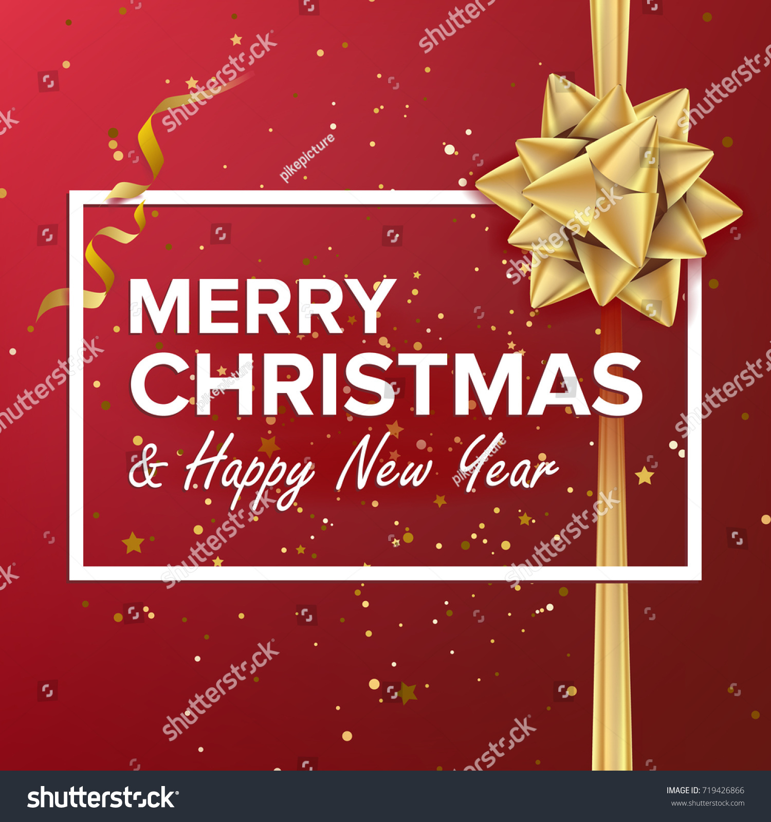 Merry Christmas Card Christmas Greeting Card Stock Illustration