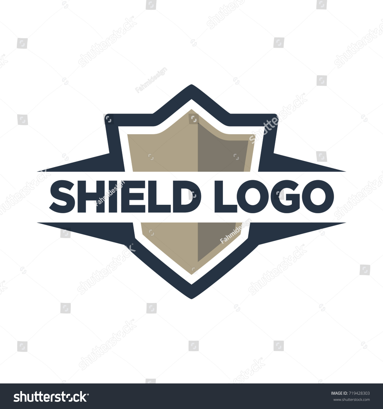 Shield Logo Template Stock Vector 719428303 - Shutterstock
