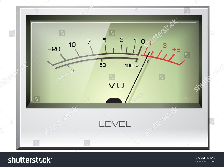 Analog Meter Background : Analog vu meter stock vector illustration