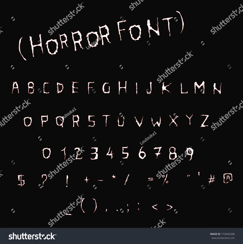 Classic Horror Font Vector Font Alphabet Stock Vector