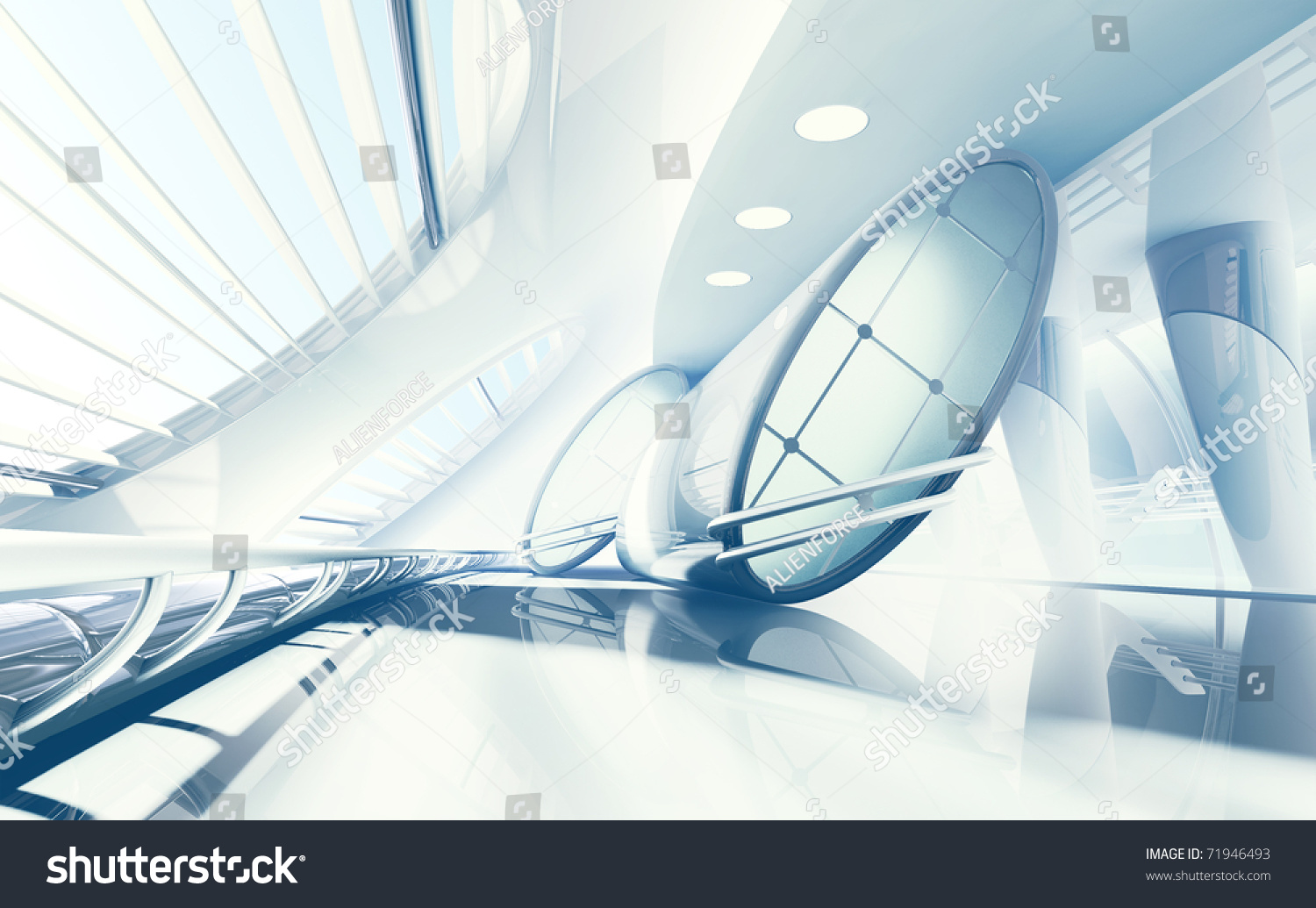 Futuristic Interior Stock Photo 71946493 Shutterstock