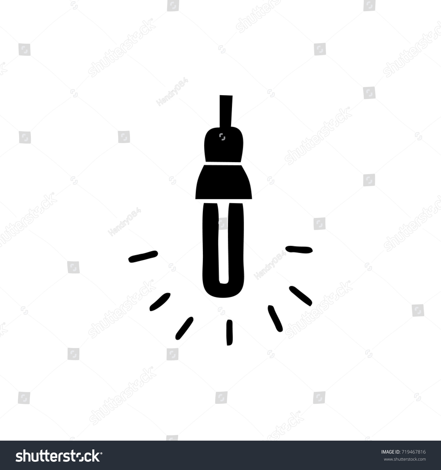 LED Lights Sign Logo Stock Vector (2018) 719467816 - Shutterstock