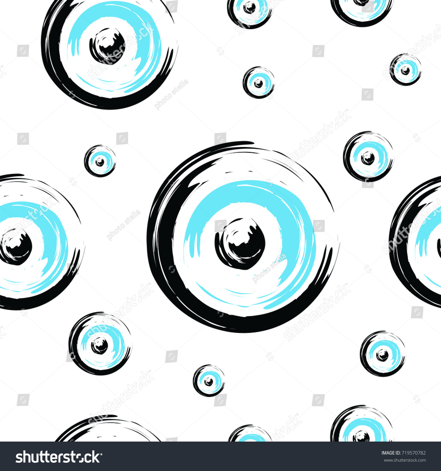 Seamless Tileable Texture Greek Evil Eye Stock Vector Royalty Free