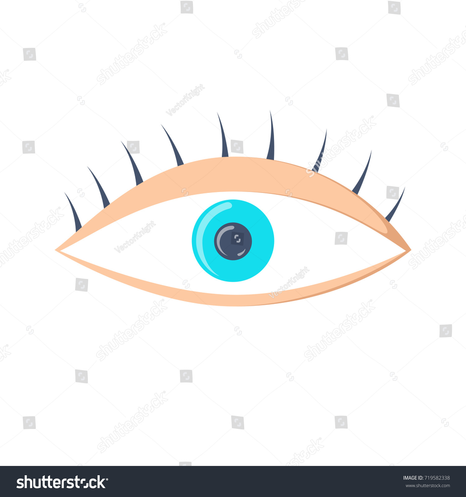 eye icon simple eye vector illustration stock vector (royalty free