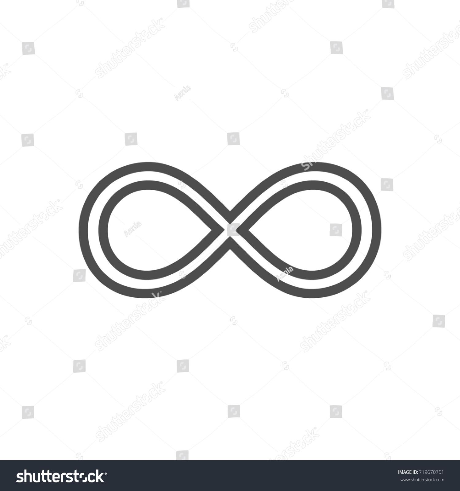 Infinity symbol loop figure 8 icon stock illustration 719670751 infinity symbol loop figure 8 icon eternity logo sign in original design forever biocorpaavc