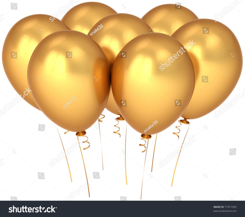 Party balloon gold seven happy birthday stock illustration 71971903 party balloon gold seven happy birthday decoration 7 golden yellow blank glamour luxury anniversary jubilee kristyandbryce Choice Image