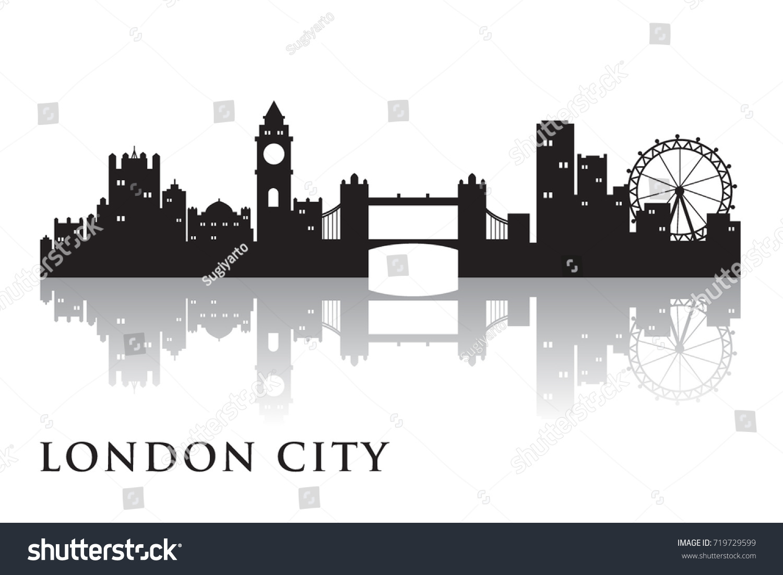 London Skyline Silhouette Vector City Design