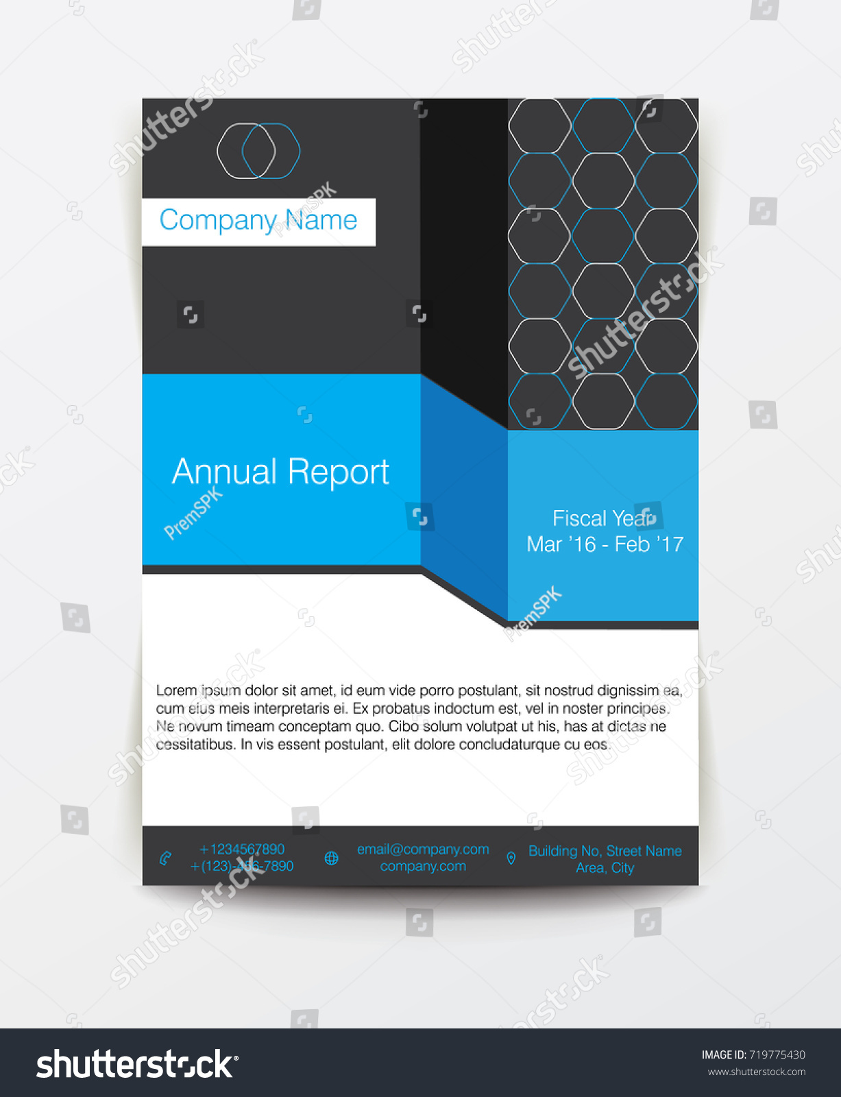 Simple Clean Blue Corporate Business Annual Stock Vector 719775430 ...