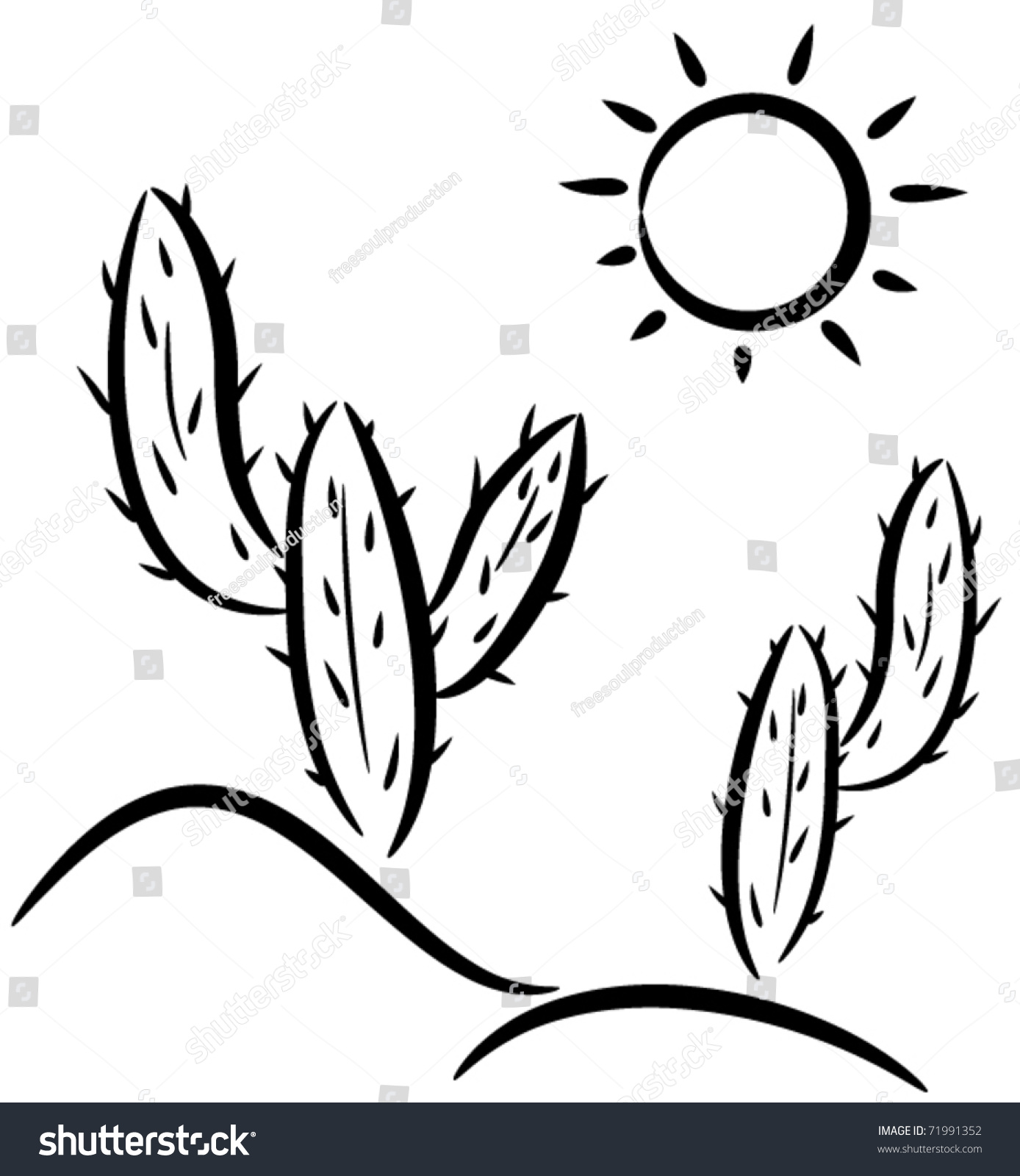 Clip Art Desert Clip Art vector cactus desert clipart stock 71991352 shutterstock in clip art