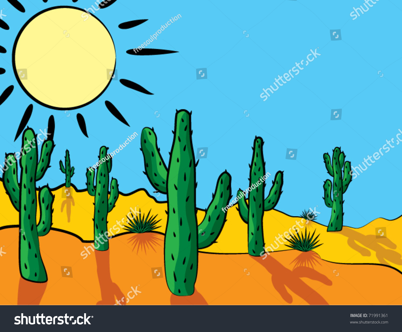 vector cactus desert clipart stock vector 71991361
