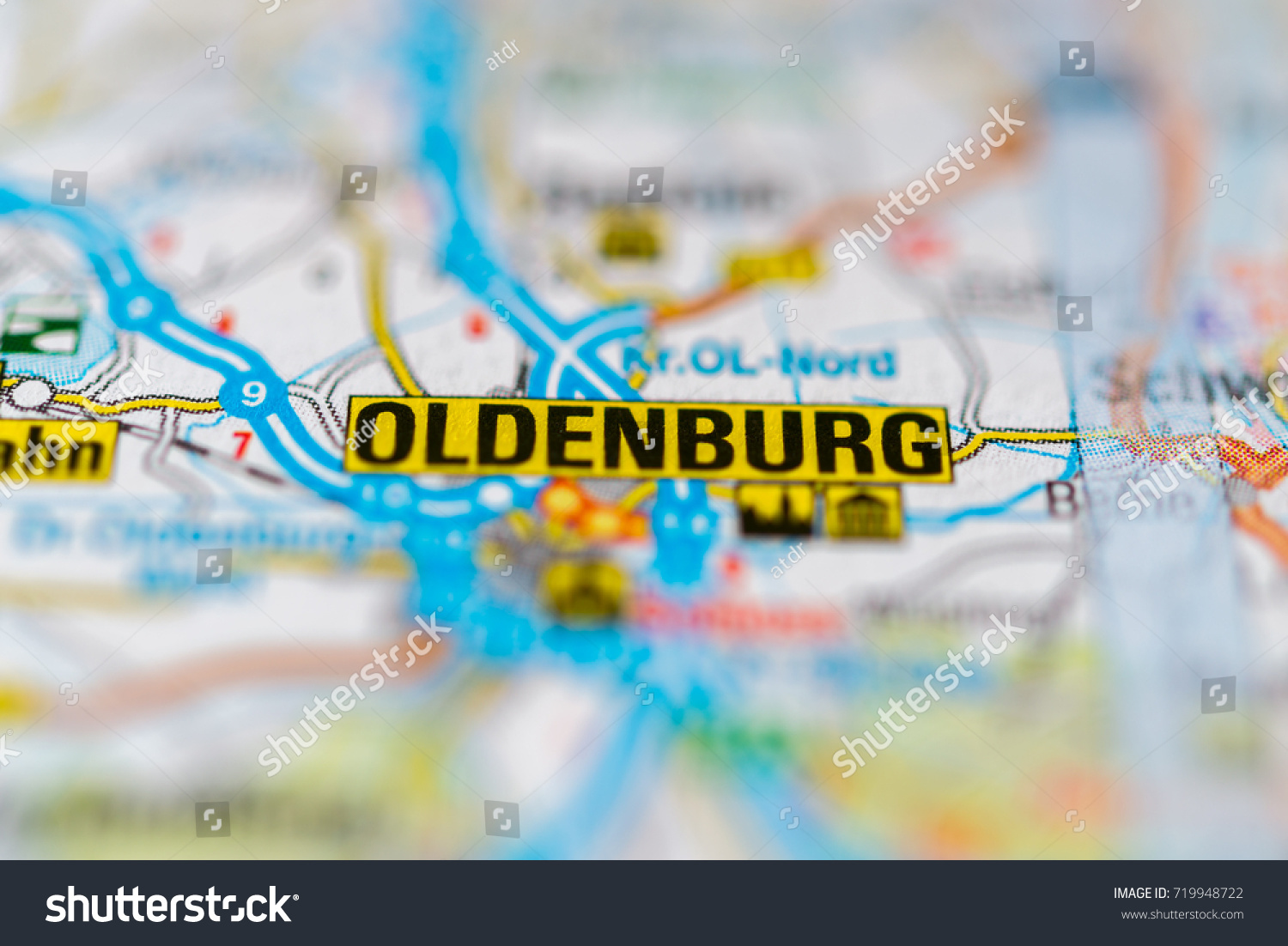 Oldenburg On Map Stock Photo Shutterstock - Oldenburg map