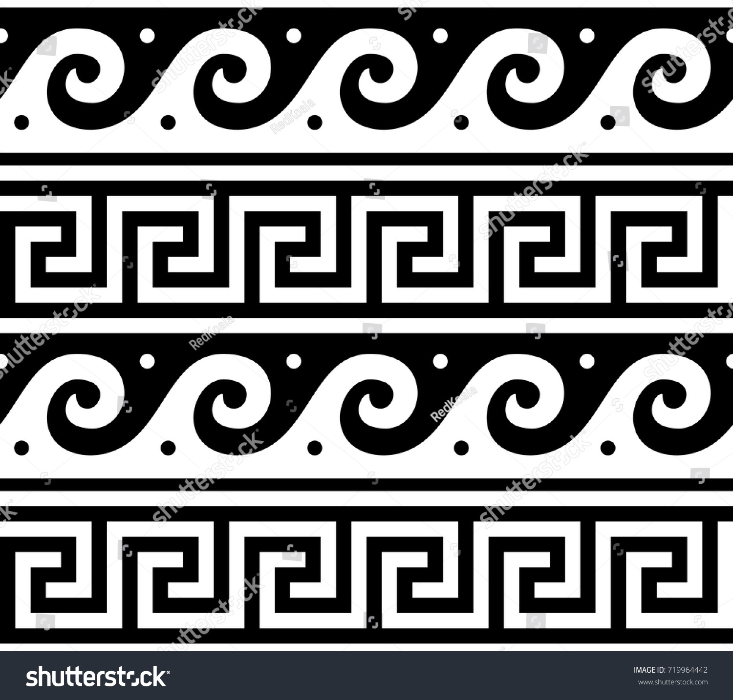 Ancient vector greek seamless pattern traditional stock vector ancient vector greek seamless pattern traditional waves and key pattern form greece vector repetitive design reviewsmspy