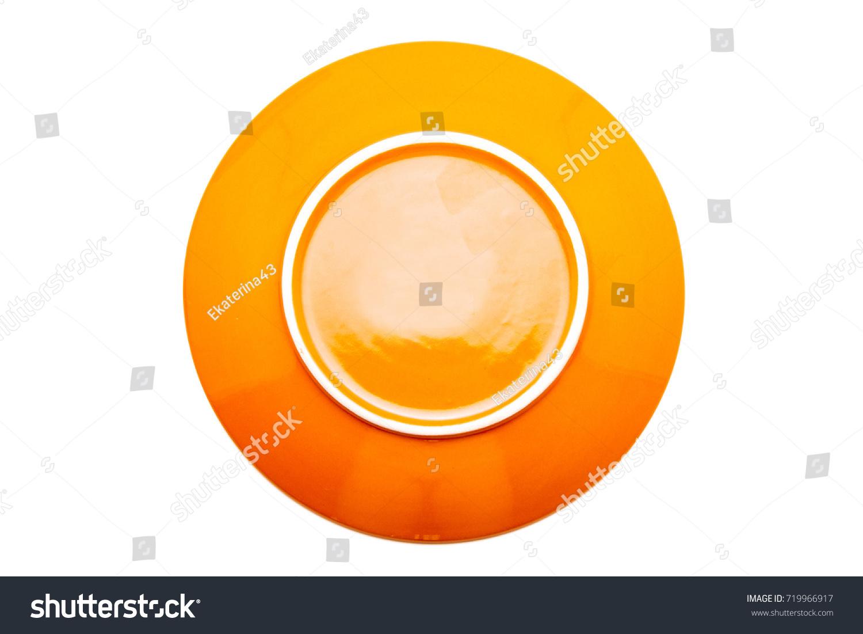 Orange Dinner Plates On White Background Stock Photo (Royalty Free) 719966917 - Shutterstock  sc 1 st  Shutterstock & Orange Dinner Plates On White Background Stock Photo (Royalty Free ...