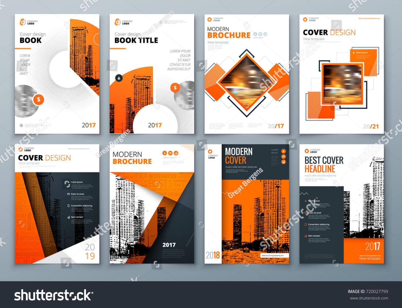 Cover Design Set Orange Corporate Business Stock-Vektorgrafik ...