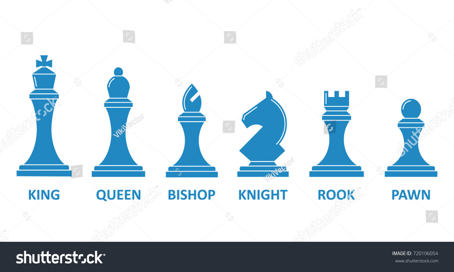 Chess piece name set board game stock vector 720106054 shutterstock chess piece name set board game image king queen rook bishop biocorpaavc Gallery