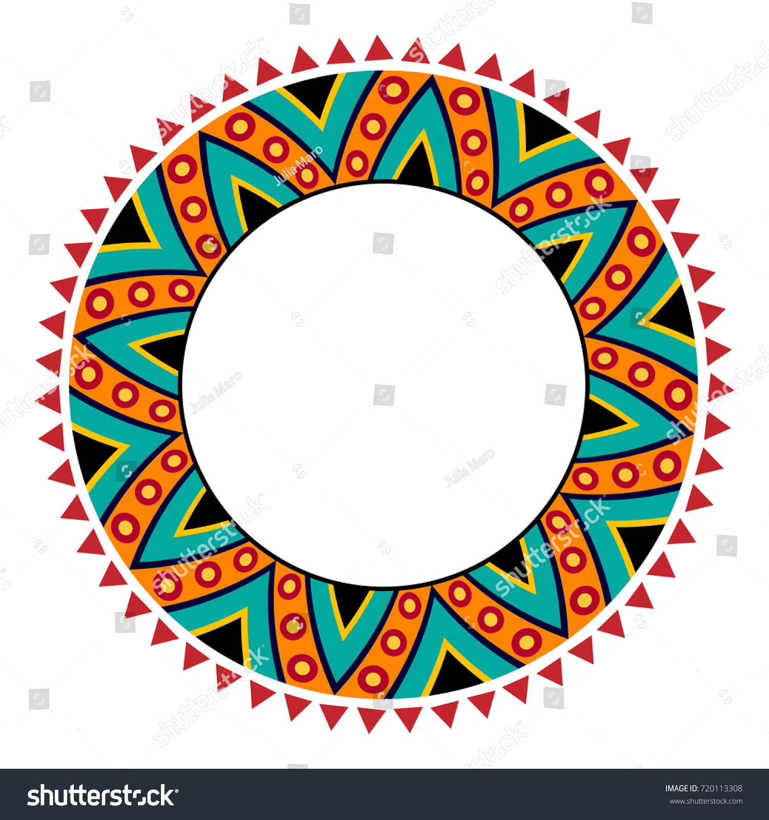 Round Frame Without Text Place Text Stock Vector (Royalty Free ...