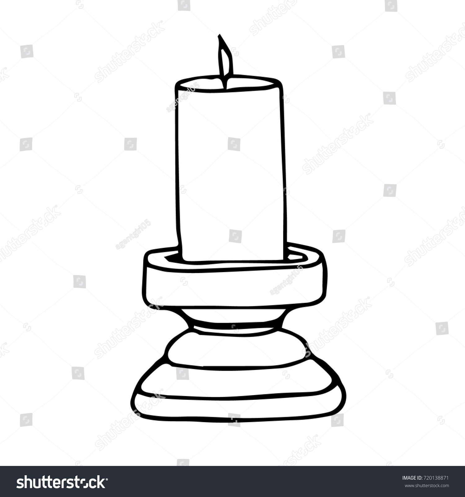 Candle Vector Illustration Candle Icon Trendy Stock Vector