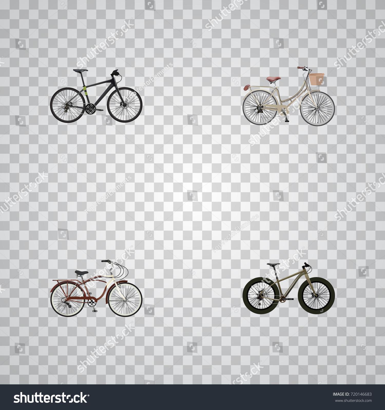 Realistic hybrid velocipede journey bike brand stock vector realistic hybrid velocipede journey bike brand vector elements set of bicycle realistic symbols biocorpaavc Images