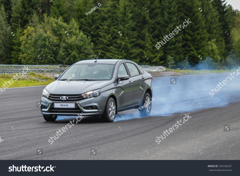 Car Brake Test : Nokia finland august test stock photo