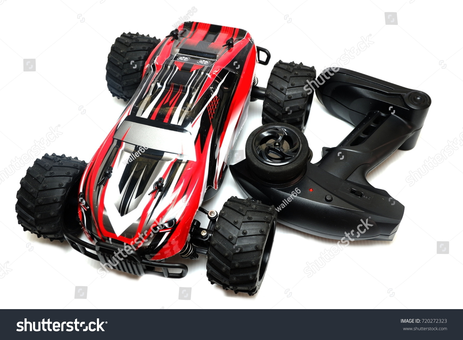 Remote Control Toy Car Rc Controller Stock Photo Edit Now With For Everyone Red Color Isolated On White Background
