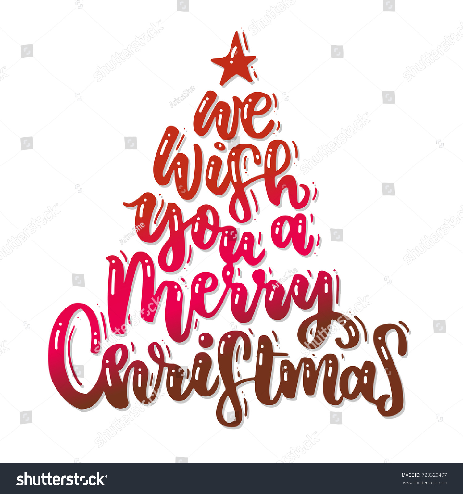 We Wish You Merry Christmas Modern Stock Vector Royalty Free