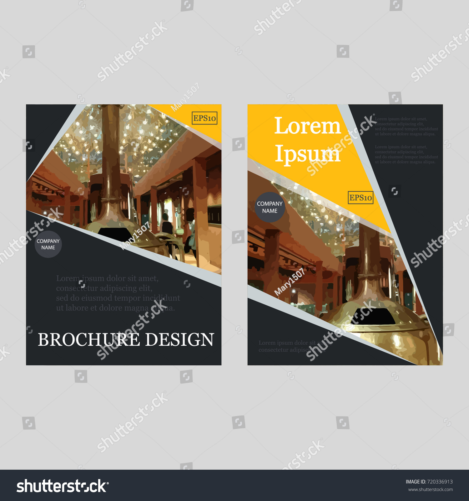 Business Brochure Covers Set Flyer Template Stock-vektorgrafik ...