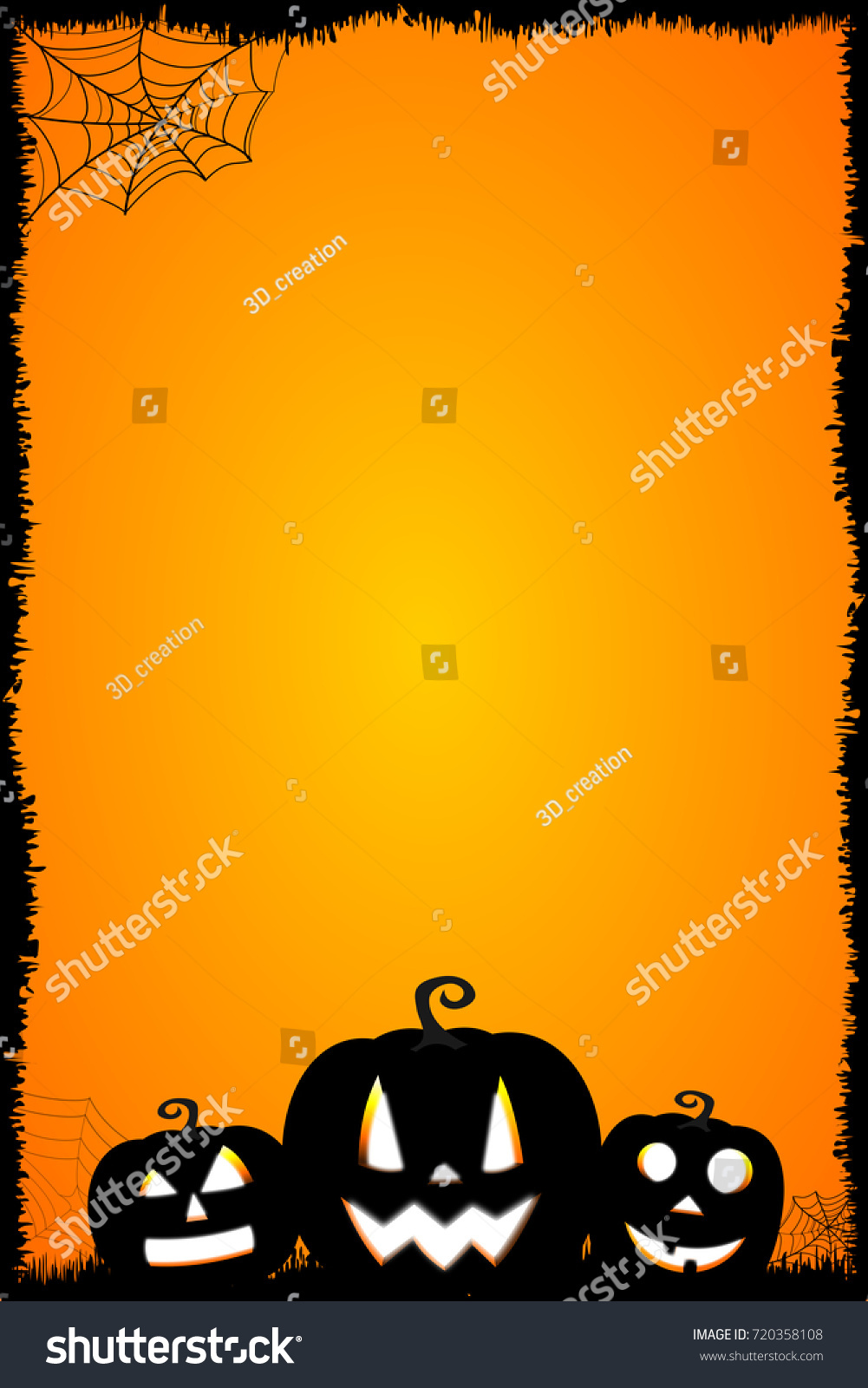 halloween card templateのイラスト素材 720358108 shutterstock