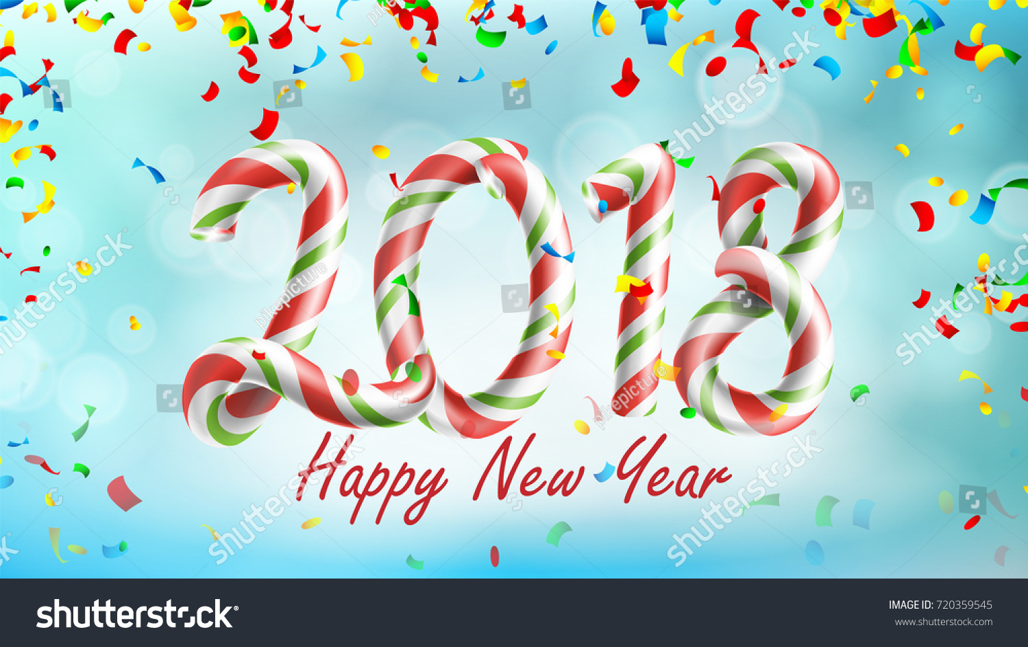 happy new year 2018 background vector poster or greeting card design template 2018 falling