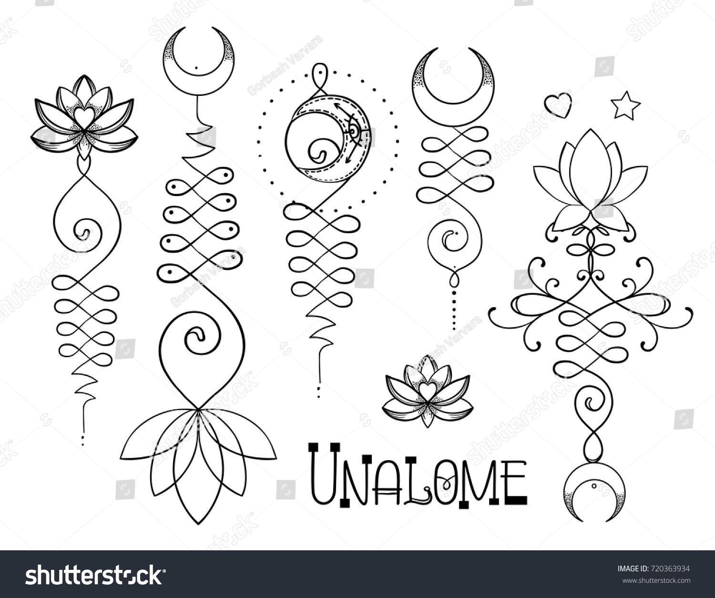 Lotus sacred geometry unamole hindu symbol stock vector 720363934 unamole hindu symbol of wisdom and path to perfection set buycottarizona