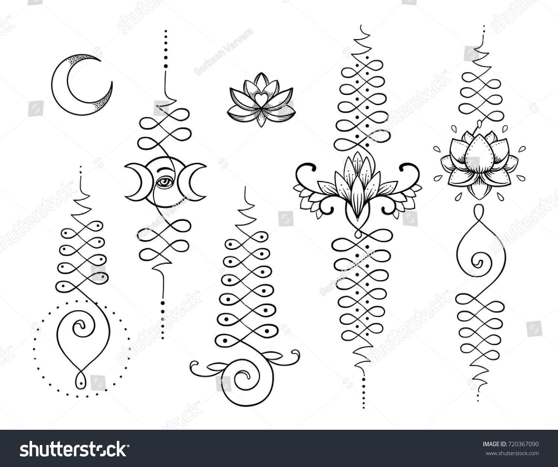 Lotus sacred geometry unamole hindu symbol stock vector 720367090 unamole hindu symbol of wisdom and path to perfection set buycottarizona