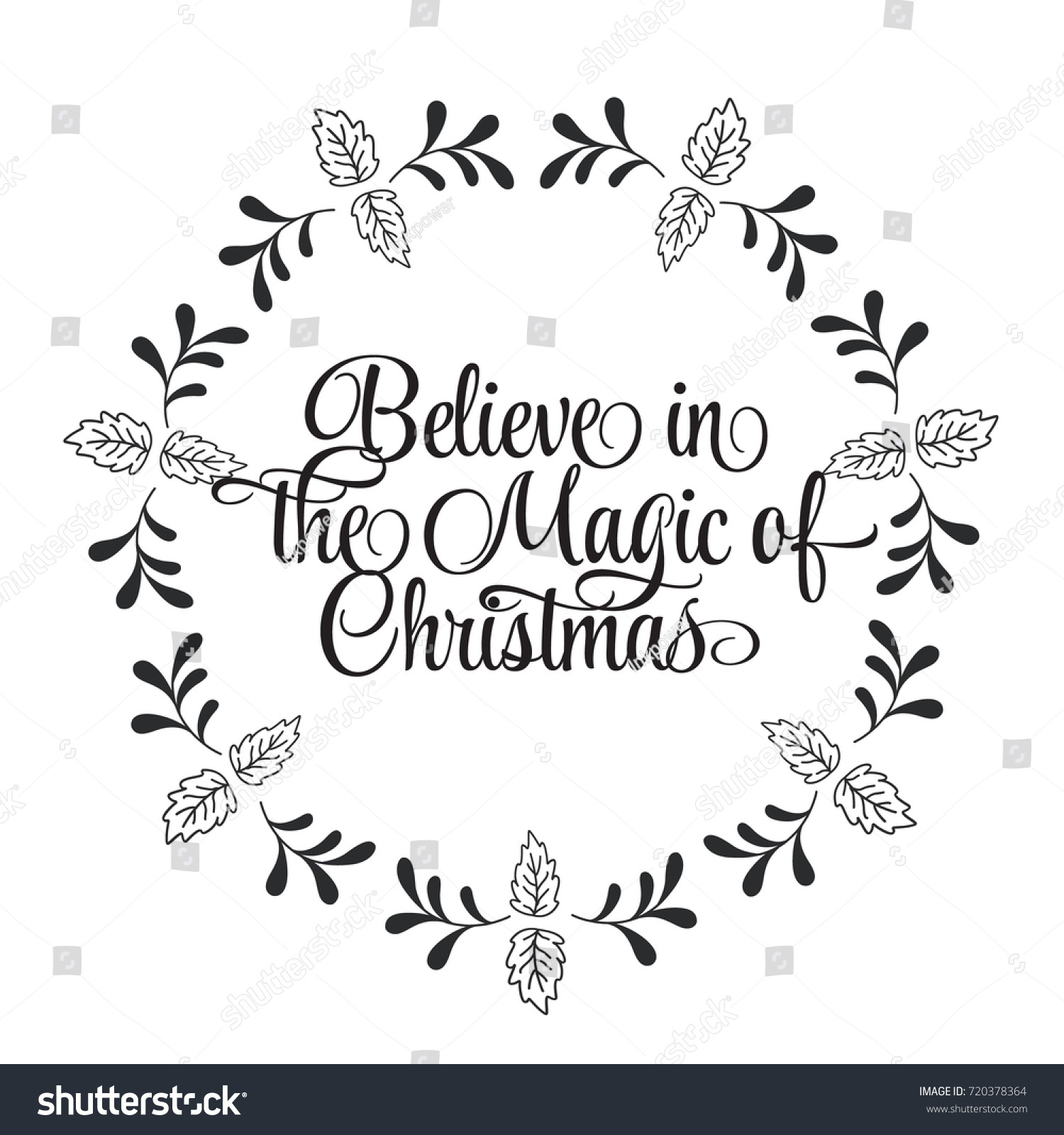 Christmas Related Word Art Design Vector Stock Vector 720378364 ...