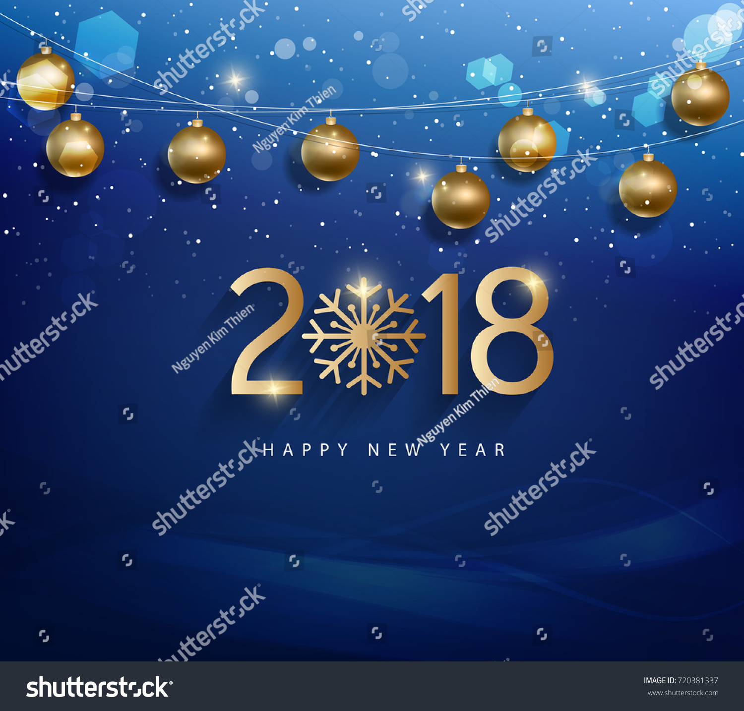 Happy new year 2018 greeting card stock vector royalty free happy new year 2018 greeting card with golden background m4hsunfo